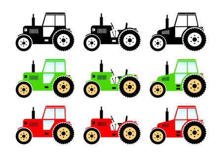 agricultural equipment: Tractor icons