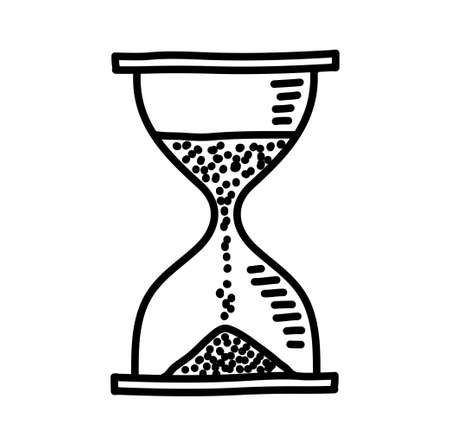 Hourglass drawing Vector