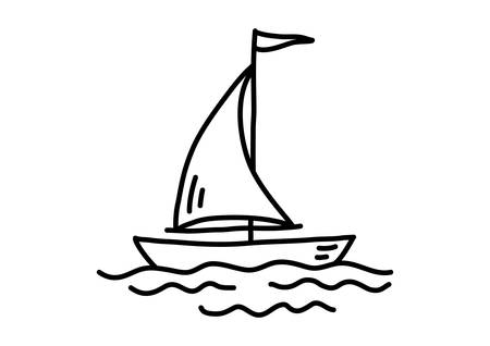 Sailboat drawing Vector