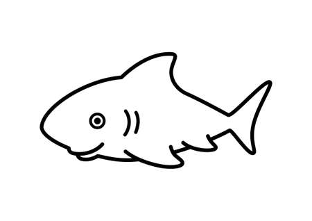Shark sketch Vector