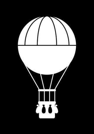 Heißluftballon icon Standard-Bild - 19138486