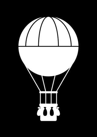hot air balloon: Hot air balloon icon