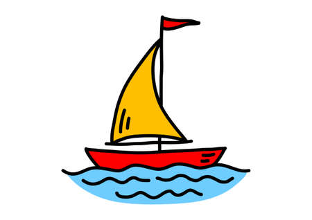 Sailboat drawing Stock Vector - 19197280