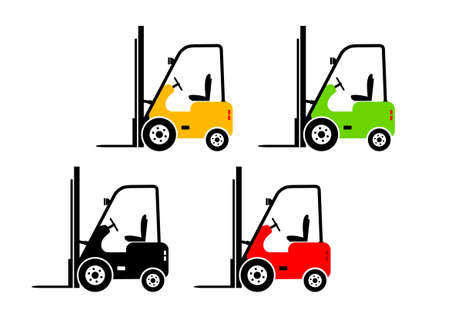 Forklift truck icons   Vector