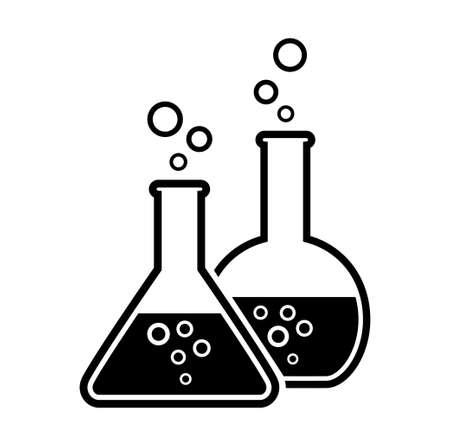 laboratory glass Stock Illustratie