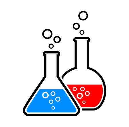 toxic substance: laboratory glass Illustration