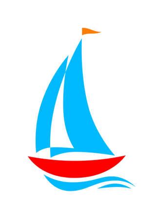 Sailboat icon Stock Vector - 19356597