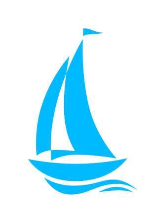 Sailboat icon Stock Vector - 19506735