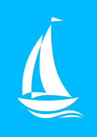 Sailboat icon Stock Vector - 19506734