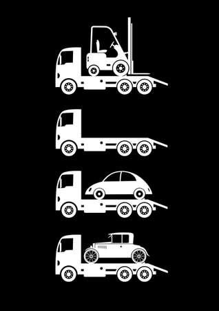 breakdown truck: Tow truck icons
