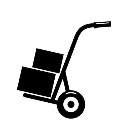 Carro de mano Ilustración de vector