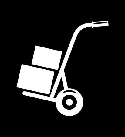 Hand truck   Stock Illustratie