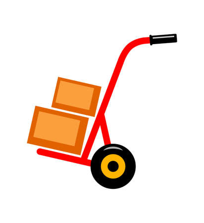 conveyance: Hand truck   Illustration