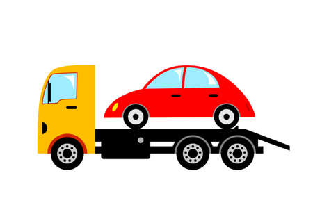 transporteur: D�panneuse Illustration