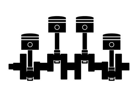 Car pistons  Vector