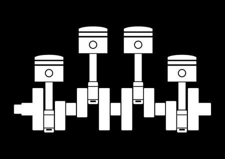 pistones: Pistones de coches Vectores