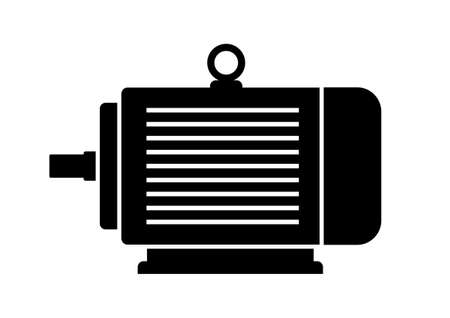 the motor: Electric motor icon Illustration