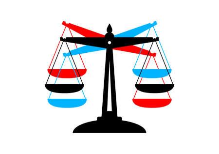 balanza en equilibrio: Escala icono