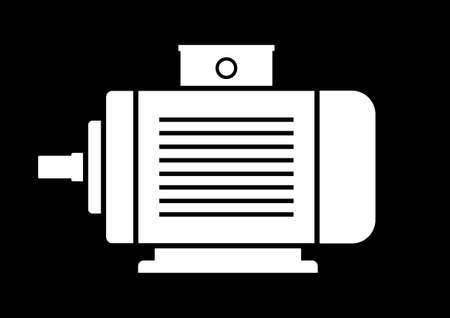electric motor: Electric motor icon Illustration