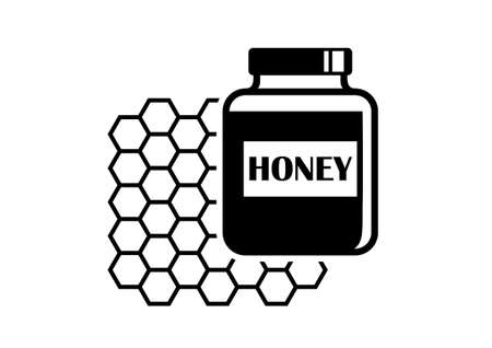 curative: Honey icon   Illustration