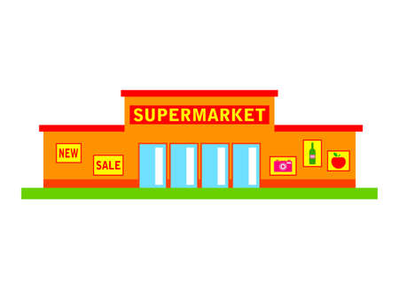 Supermarkt gebäude clipart  Supermarket Icon Royalty Free Cliparts, Vectors, And Stock ...
