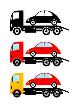 breakdown truck: Truck icons Illustration