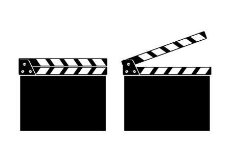 movie clapper: Movie batacchio Vettoriali