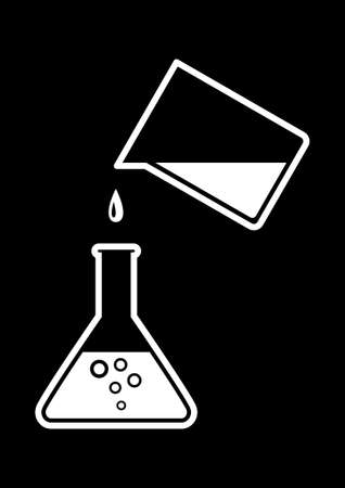 Laboratory glass Illustration