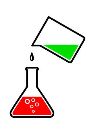 Vidrio de laboratorio Ilustración de vector