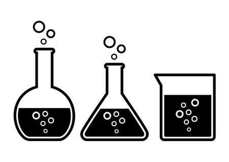 drug discovery: Laboratory glass Illustration