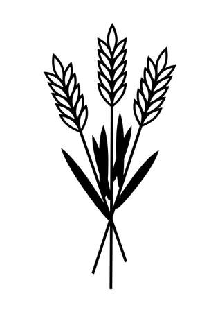 Grain icon on white background Vector