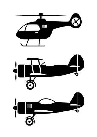 aerobatic: Aircraft icons  Illustration