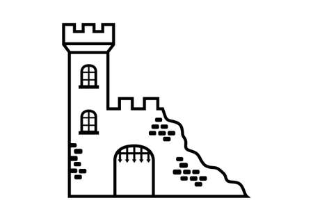 fortification: Castle ruins Illustration