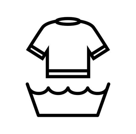 wet shirt: T-shirt icon   Illustration