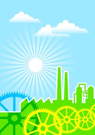 Eco industry Stock Vector - 22019148