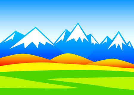 mountainous: Autumn mountainous landscape