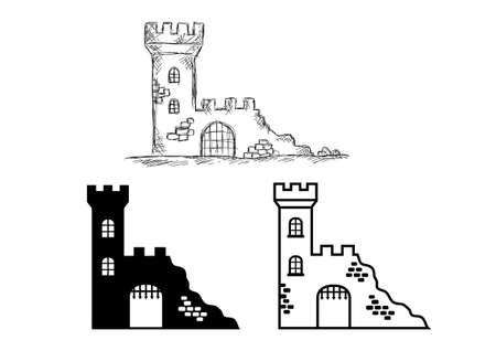 Castle ruins Vectores
