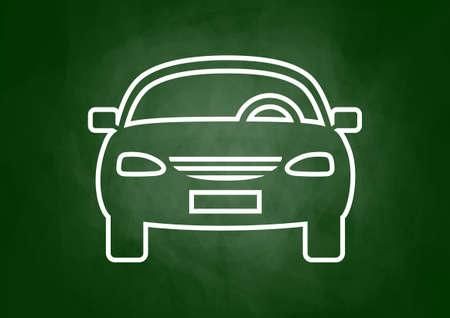 Car drawing on blackboard Stock Vector - 23235324