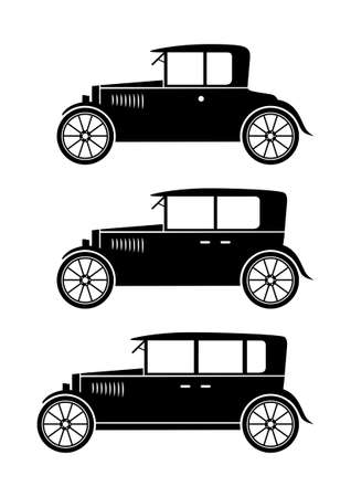 Set of veteran cars Vector