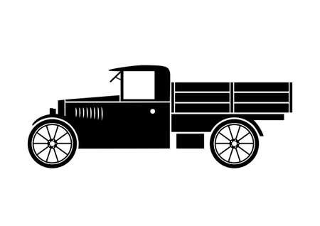 Oude vrachtwagen Stock Illustratie
