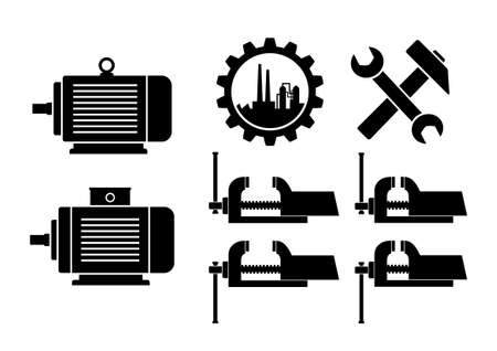 toothed: Industrial icons