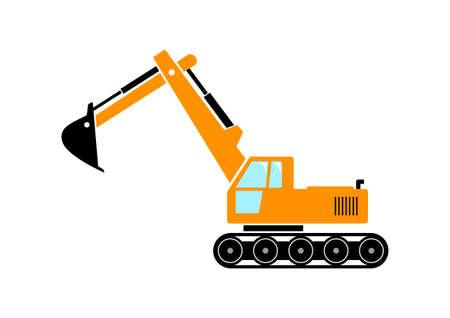 Excavator icon Vector