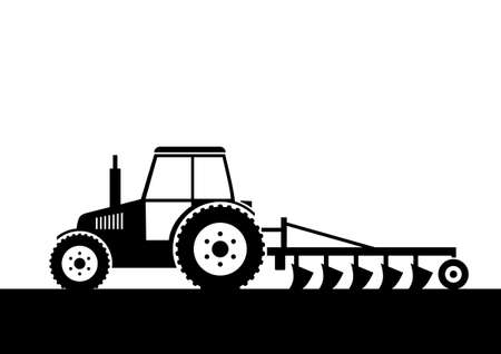 tractor:   Tractor on field     Illustration