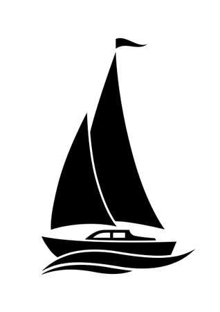 Segelboot-Symbol Standard-Bild - 24597721