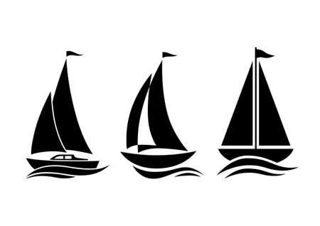 Zeilboot iconen