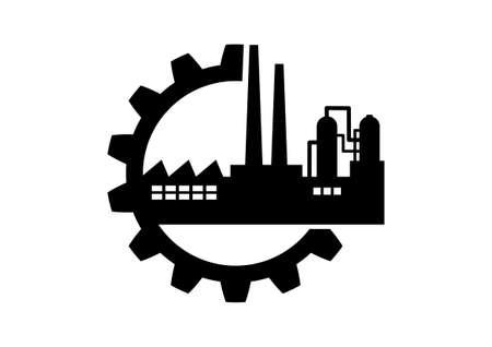 工業用アイコン  イラスト・ベクター素材