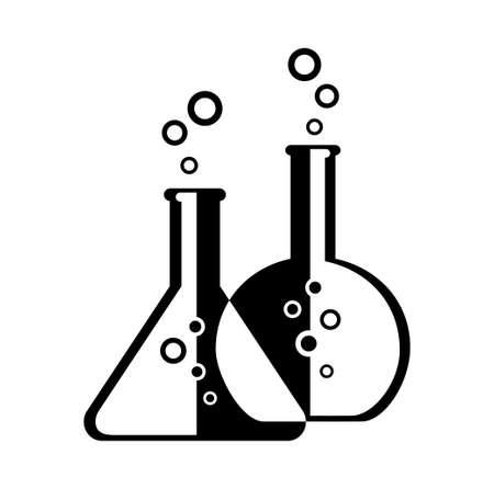 Laboratory glass isolated on white Illustration