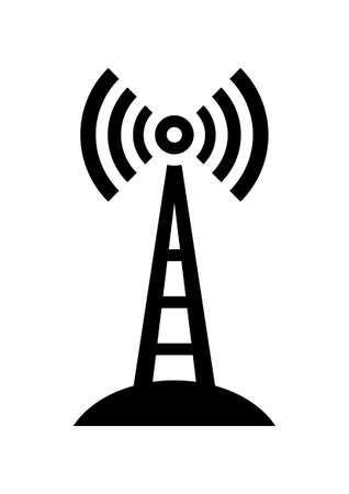 communications tower:   Transmitter icon
