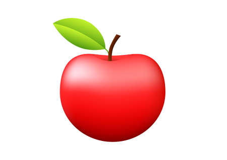 ripened: Red apple