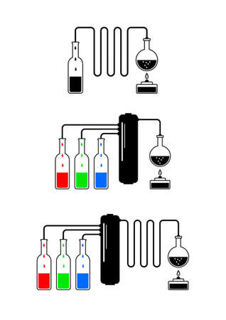 distillation: Distillation kit  Illustration